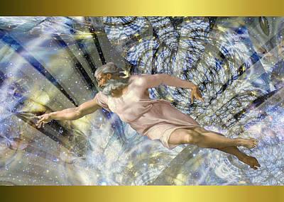Digital Art - Michelangelo Vintage God by Robert Kernodle
