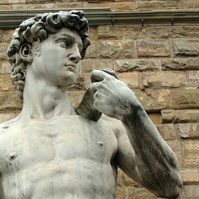 Michelangelo's David 1 Art Print