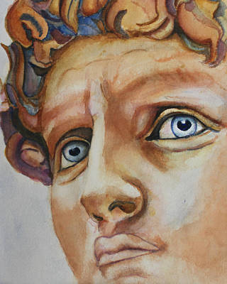 Painting - Michelangelo's David In Color by Christiane Kingsley