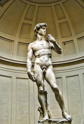 Michelangelos David  Art Print by Jon Berghoff
