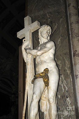 Photograph - Michelangelos St John The Baptist In Rome by Brenda Kean