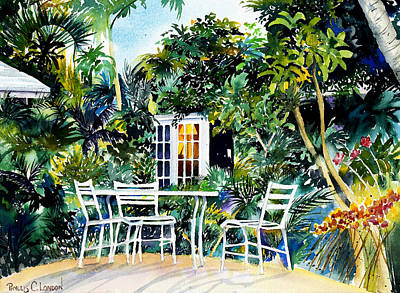 Michelle And Scott's Key West Garden Art Print