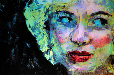 Art Print featuring the digital art Michelle As Marilyn by Jim Vance
