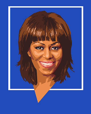 Politics Digital Art - Michelle by Douglas Simonson