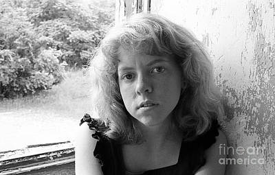 Photograph - Michelle In Window 1980 by Ed Weidman