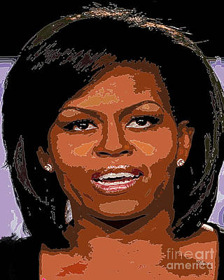 Michelle Obama Digital Art - Michelle Obama by Dalon Ryan