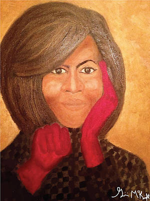 First Lady Michelle Painting - Michelle Obama by Ginnie McKnight
