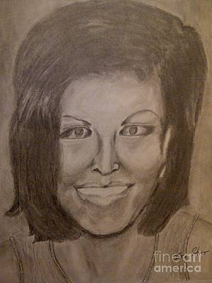 Michelle Obama Drawing - Michelle Obama by Irving Starr