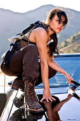 Digital Art - Michelle Rodriguez @ Fast To Furious by Gabriel T Toro