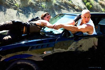 Digital Art - Michelle Rodriguez And Vin Diesel @ Fast To Furious by Gabriel T Toro