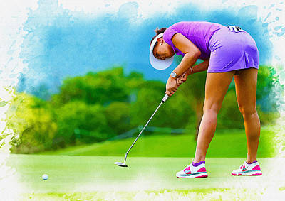 Ernie Els Wall Art - Digital Art - Michelle Wie - The Lpga Lotte Championship by Don Kuing
