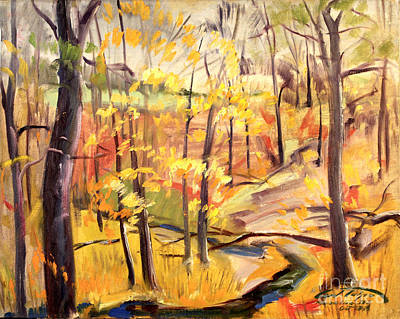 Painting - Michigan Autumn Woods by Art By Tolpo Collection
