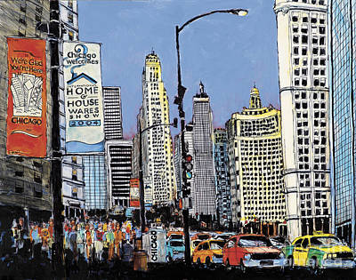 Painting - Michigan Ave Chicago  by Robert Birkenes