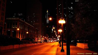 Photograph - Michigan Avenue At Night by Richard Zentner
