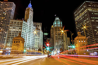 Photograph - Michigan Avenue, Chicago by Carl Larson Photography