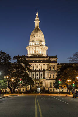 Photograph - Michigan Capitol And Michigan Ave by John McGraw