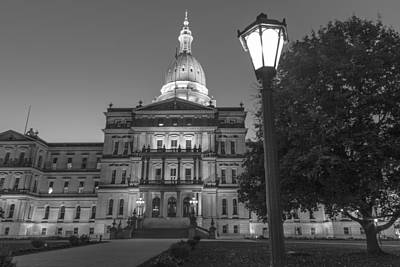 Photograph - Michigan Capitol And Post   by John McGraw