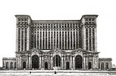 Photograph - Michigan Central Station by James Howe