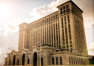 Photograph - Michigan Central Station by Mike Lanzetta