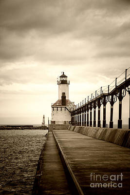 Photograph - Michigan City Lighthouse by Timothy Johnson