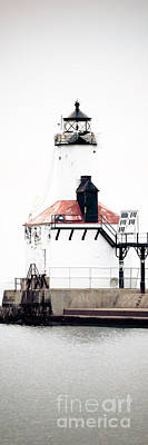 Indiana Photograph - Michigan City Lighthouse Vertical Panorama by Paul Velgos