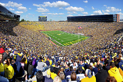 University Of Michigan Photograph - Michigan Stadium - Wolverines by Georgia Fowler