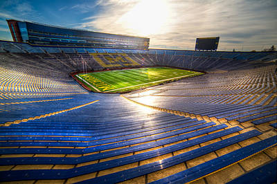 Photograph - Michigan Stadium - The Big House by Mike Lanzetta