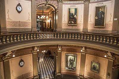 Photograph - Michigan State Capitol 2 Floors Color by John McGraw