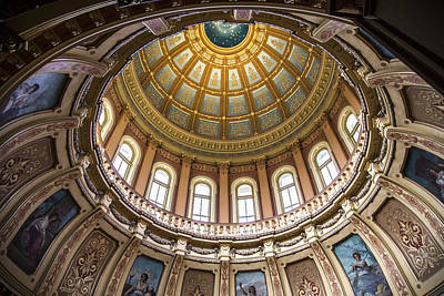 Photograph - Michigan State Capitol Dome In Color  by John McGraw