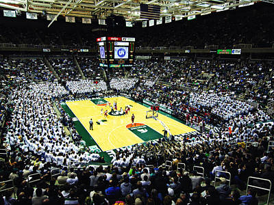 Michigan State Spartans Jack Breslin Student Events Center Art Print