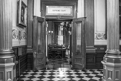 Photograph - Michigan State Supreme Court Entrance  by John McGraw