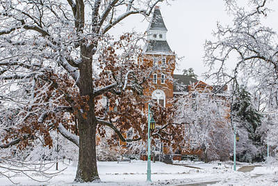 Winter Light Photograph - Michigan State University During Ice Storm  by John McGraw