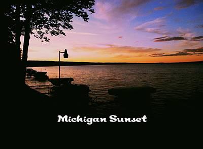 Photograph - Michigan Sunset by Gary Wonning