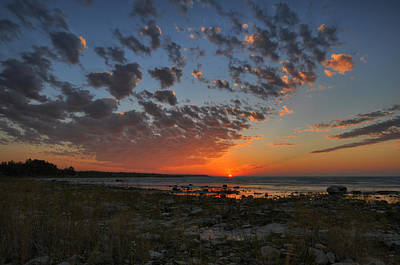 Beach Photograph - Michigan Sunset by Russell Todd