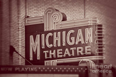 Michigan Theatre Photograph - Michigan Theatre by Emily Kay