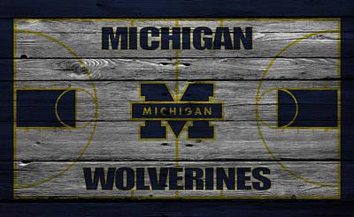 Michigan Wolverines Print by Joe Hamilton