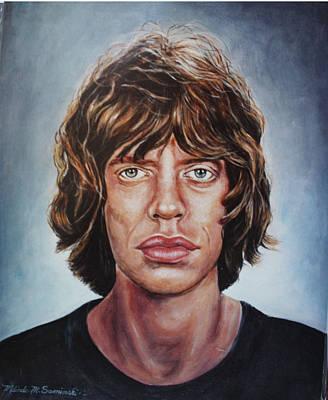 Painting - Mick Jaggar by Melinda Saminski