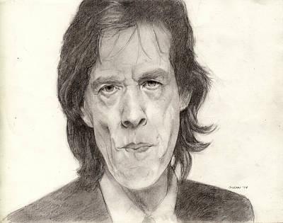Rollingstone Drawing - Mick Jagger 2 by Glenn Daniels