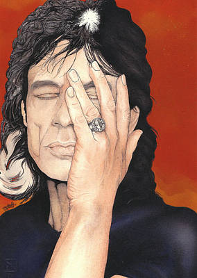 Mick Mixed Media - Mick Jagger by Andrea Schiavetti