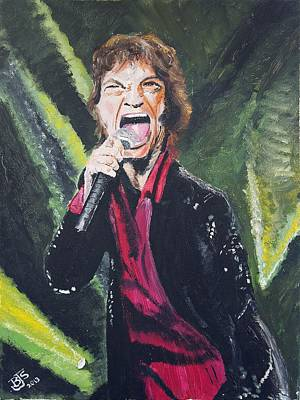 Painting - Mick Jagger Portrait by Bruce Schmalfuss