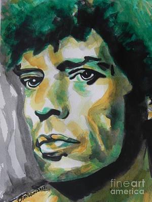 Mick Jagger Art Print by Chrisann Ellis