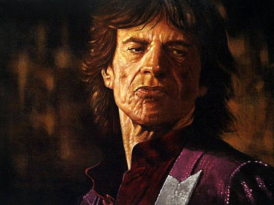 Mick Jagger Art Print by Guy McIntosh