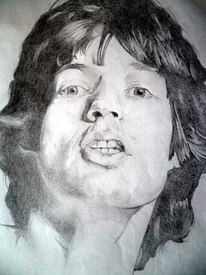 Mick Jagger And Keith Richards Drawing - Mick Jagger - Large by Robert Lance