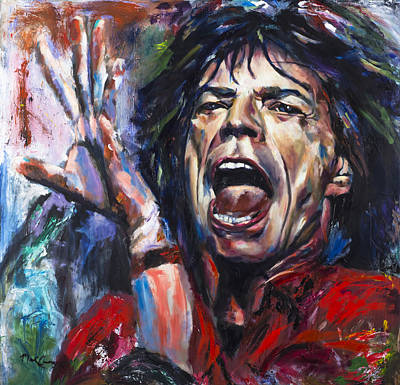 Stones Painting - Mick Jagger by Mark Courage