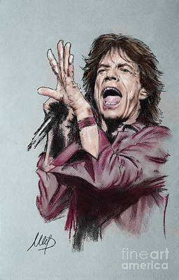 Singer Drawing - Mick Jagger by Melanie D