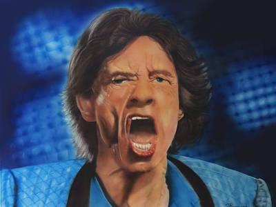 Mick Mixed Media - Mick Jagger by Peter Hartog