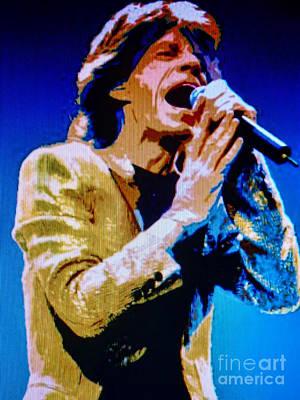 Lead Vocalist Painting - Mick Jagger Pop Art by Ryszard Sleczka