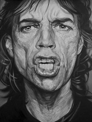 Mick Jagger And Keith Richards Drawing - Mick Jagger by Steve Hunter