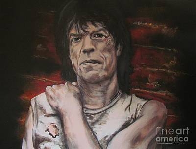 Rolling Stone Painting - Mick Jagger - Street Fighting Man by Eric Dee