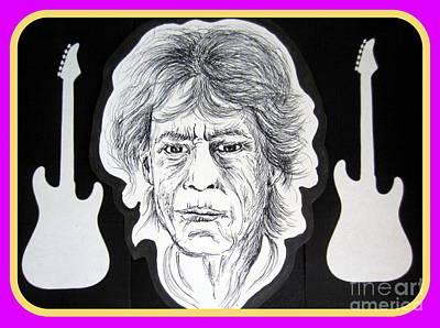 Rocker Drawing - Mick Jagger The Rolling Stone by Roberto Gagliardi